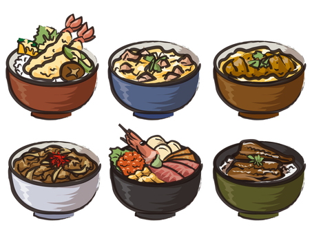 Assorted rice bowl