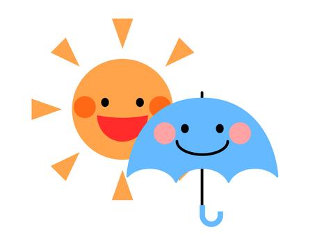 Sunny and rain