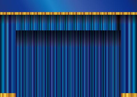 Background frame frame curtain curtain curtain velvet blue