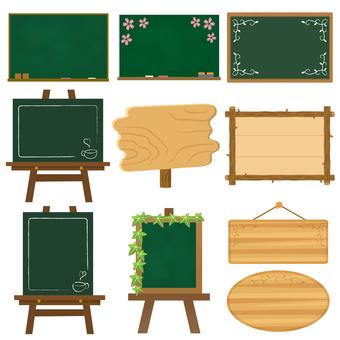 Blackboard & message board set