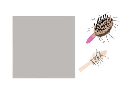 Hair loss hand brush