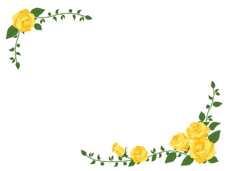 Yellow Rose diagonal frame · Border frame 01