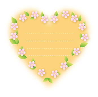 Heart flower decoration (Yellow)