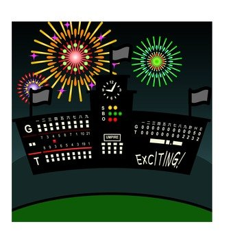 Electric bulletin board and fireworks