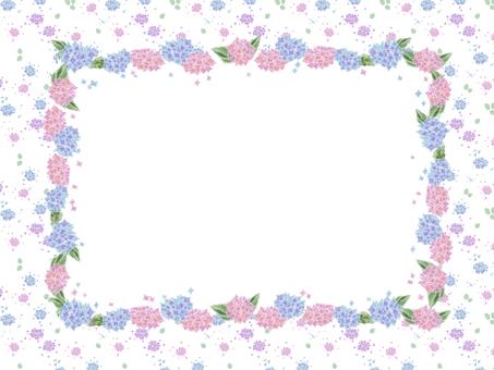 花フレーム 26(紫陽花)