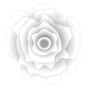 Jagged realistic white rose icon material