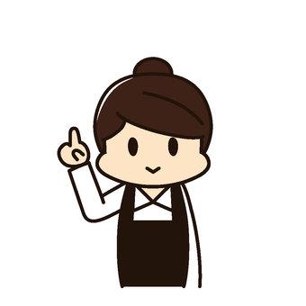 Restaurant Female clerk Description