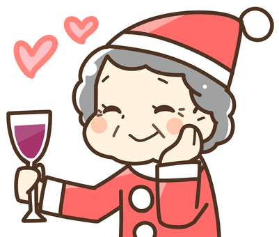 A woman enjoying a Christmas party (senior)