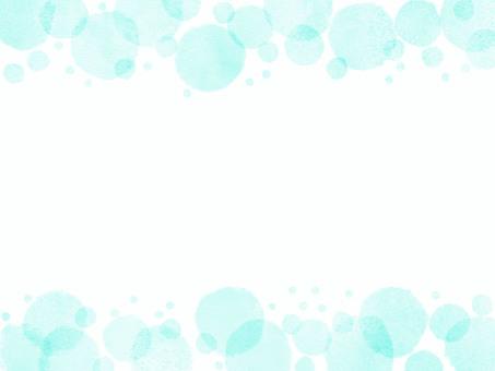 Blue Green Polka Dot Frame Background Material