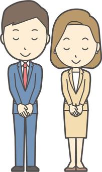 Men's and women's suit Blue Bob -004 - whole body