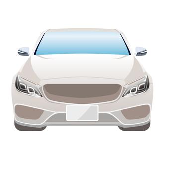 Illustration of a car front 6 sedan