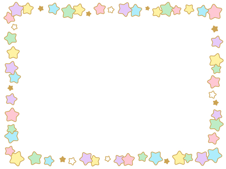 Star frame (with border)