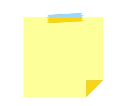 Memo color material tape yellow