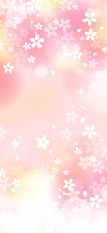 벚꽃의 환상적인 프레임 (수직)