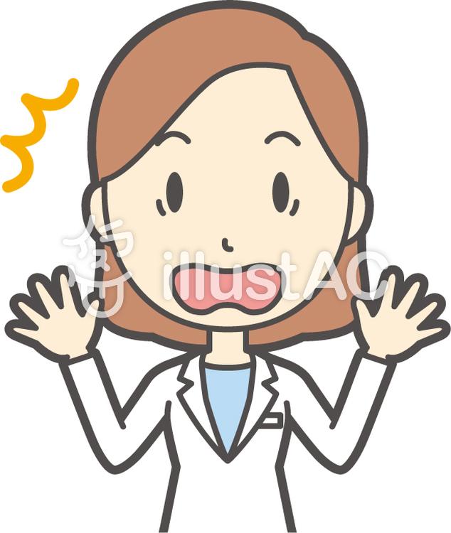 若者医師女性-120-バストのイラスト