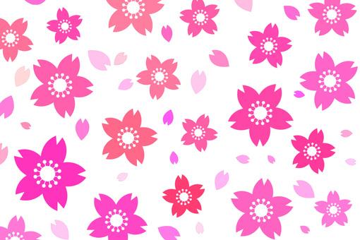 Cute cherry blossom petal material