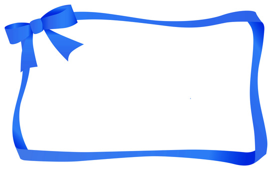 Ribbon frame blue