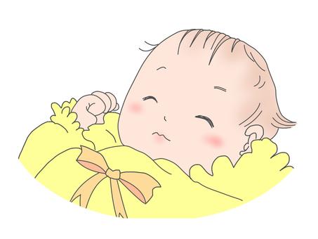 아기 잠자는 얼굴