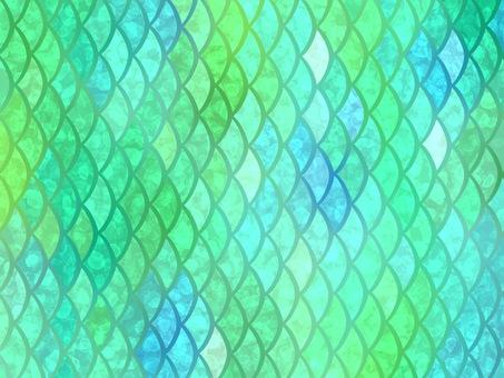 Salmon fish mermaid green glitter