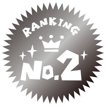RANKING NO.2 silver medal icon