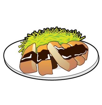 Nagoya specialty - Miso cutlet