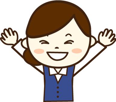 Reception woman (Smile 9)