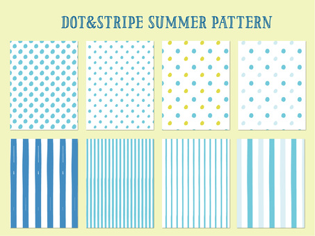 Dot & stripe summer pattern