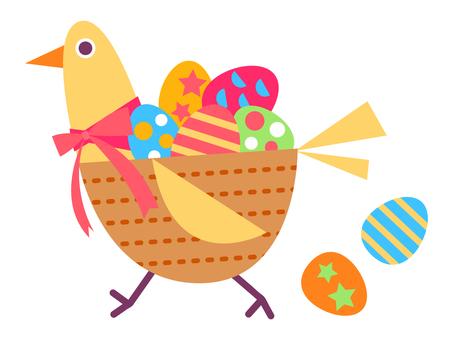 鳥とイースターエッグ