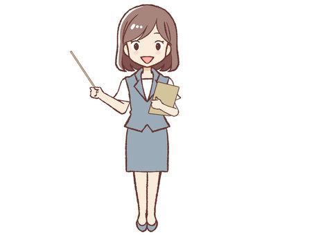Uniform woman explaining ③