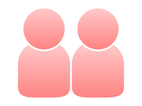 People icon (2 people) Pink gradation