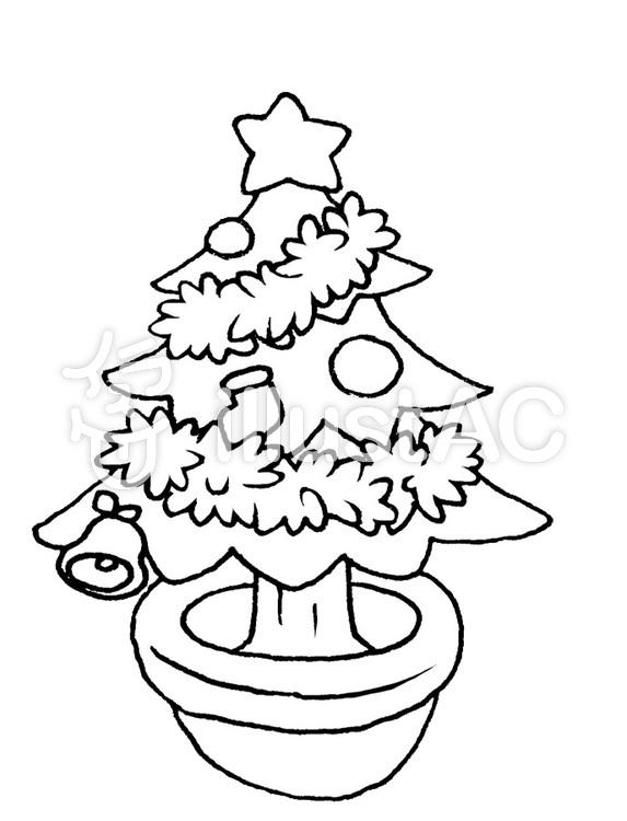 クリスマスツリー 塗り絵イラスト No 644802無料イラストなら