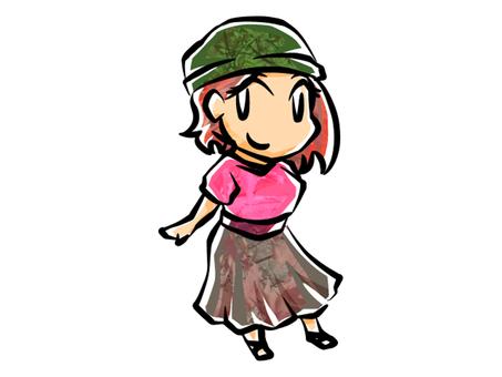 Girl in knit hat