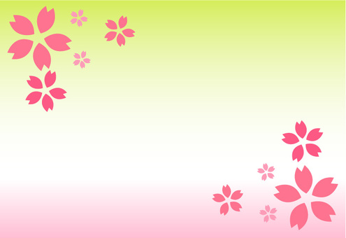 Cherry Blossoms Message Card -3