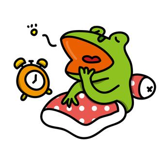 青蛙先生醒來