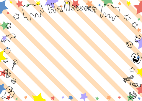Halloween star frame stripe