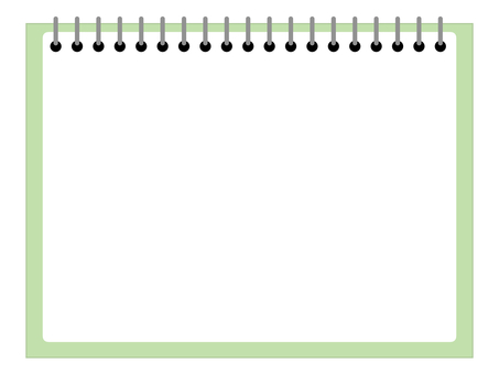 Notebook notepad bordered green