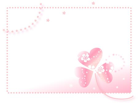 Spring clover frame