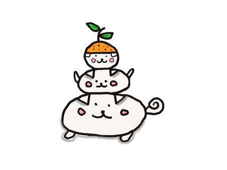 Dog rice cake ②