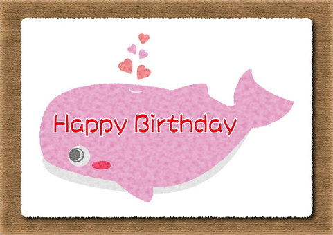 Whale birthday card 03