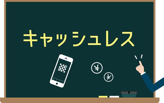 Cashless blackboard image