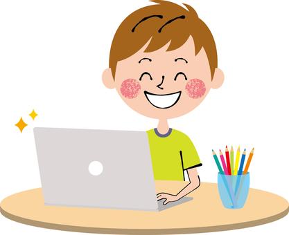PC Child Boys Smile Desk Round
