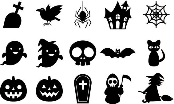 Halloween _ Silhouette _ Set