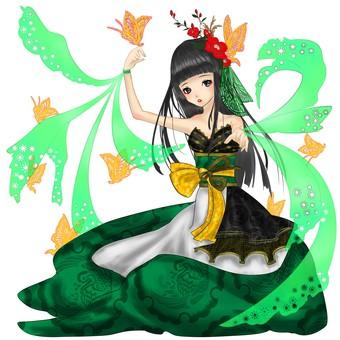 동백 녹색 드레스 2