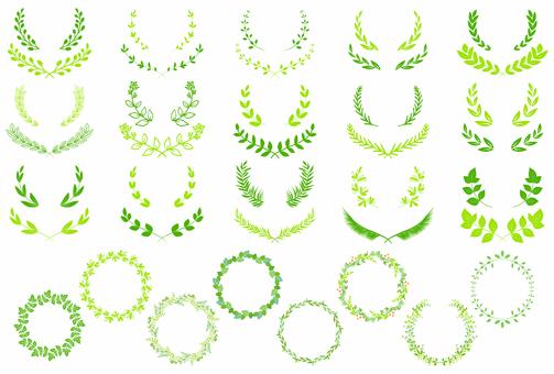 Leaf decoration 04