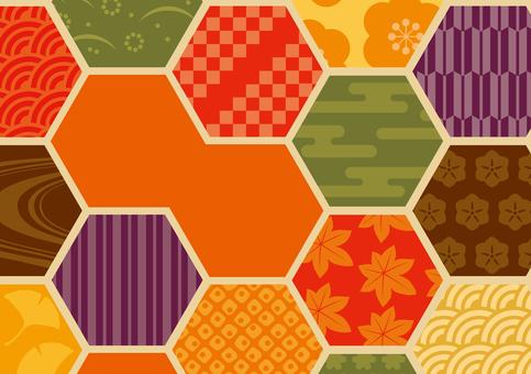 秋天背景六角形