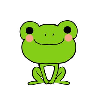 앉아 개구리