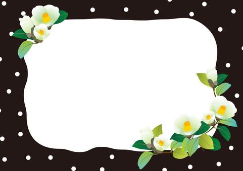 White camellia frame