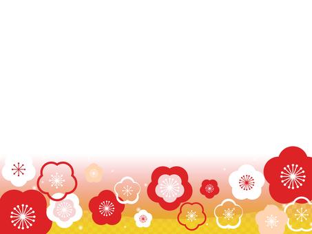 Plum flower decorative frame 2