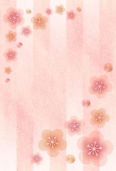 매화의 꽃 배경