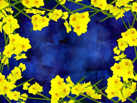 노란 수선화 배경